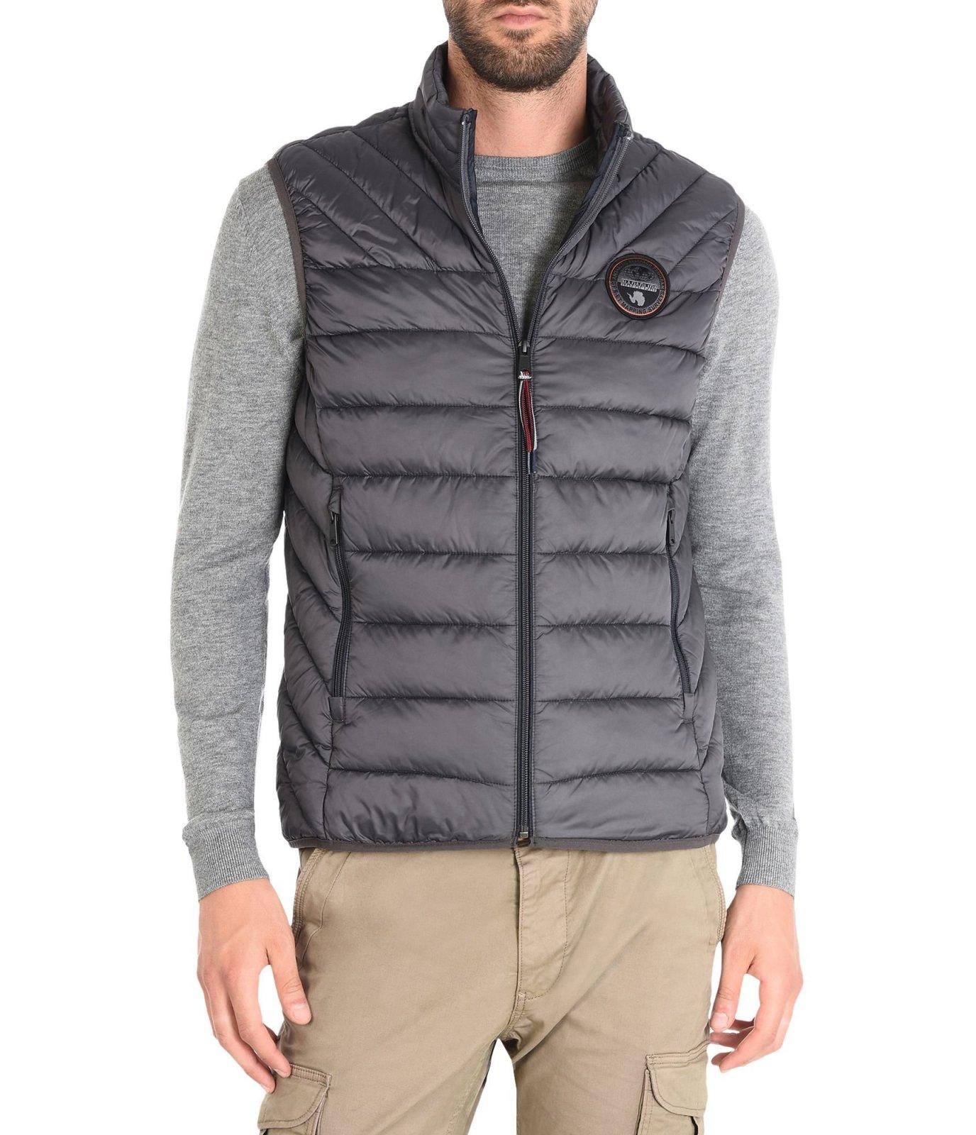 napapijri doudoune sans manche aerons gris aerons vest doudoune pour homme. Black Bedroom Furniture Sets. Home Design Ideas