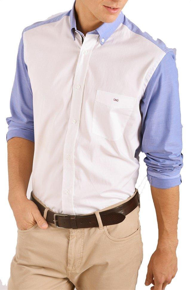 eden park chemise manches longues patch 97cheche0017 chemises pour homme. Black Bedroom Furniture Sets. Home Design Ideas