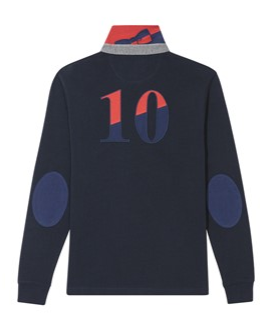 Maillot de rugby coupe droite avec broderie N°10