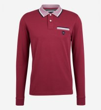 Polo col oxford rouge