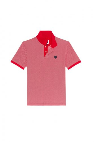 Polo golf Oxford rouge