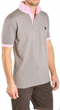 Polo gris col rose