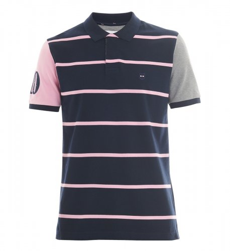 Polo patchwork marin