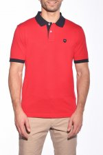 Polo uni rouge