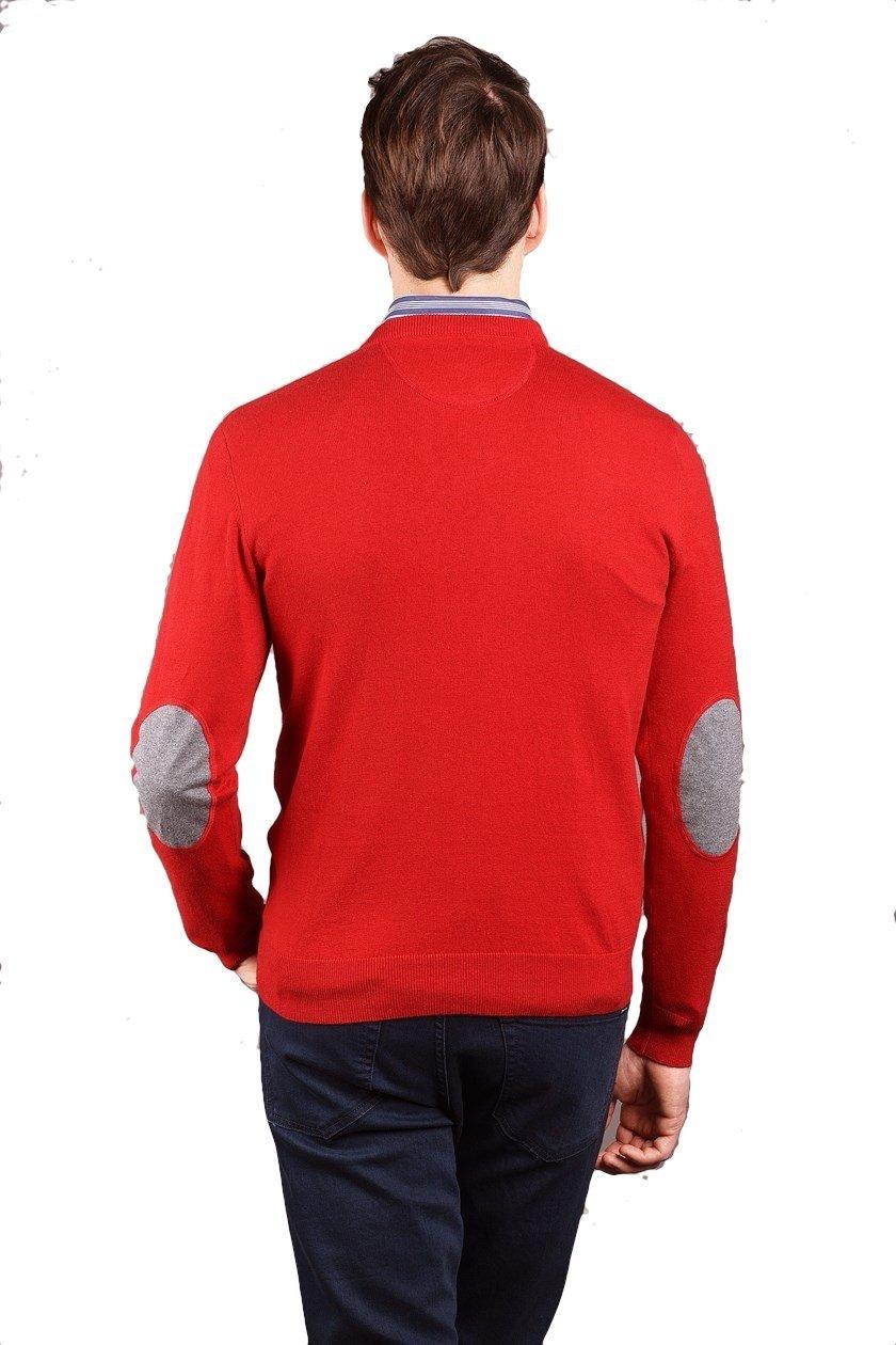 eden park pull rouge coton cachemire col v 66maipue0028 pull pour homme. Black Bedroom Furniture Sets. Home Design Ideas