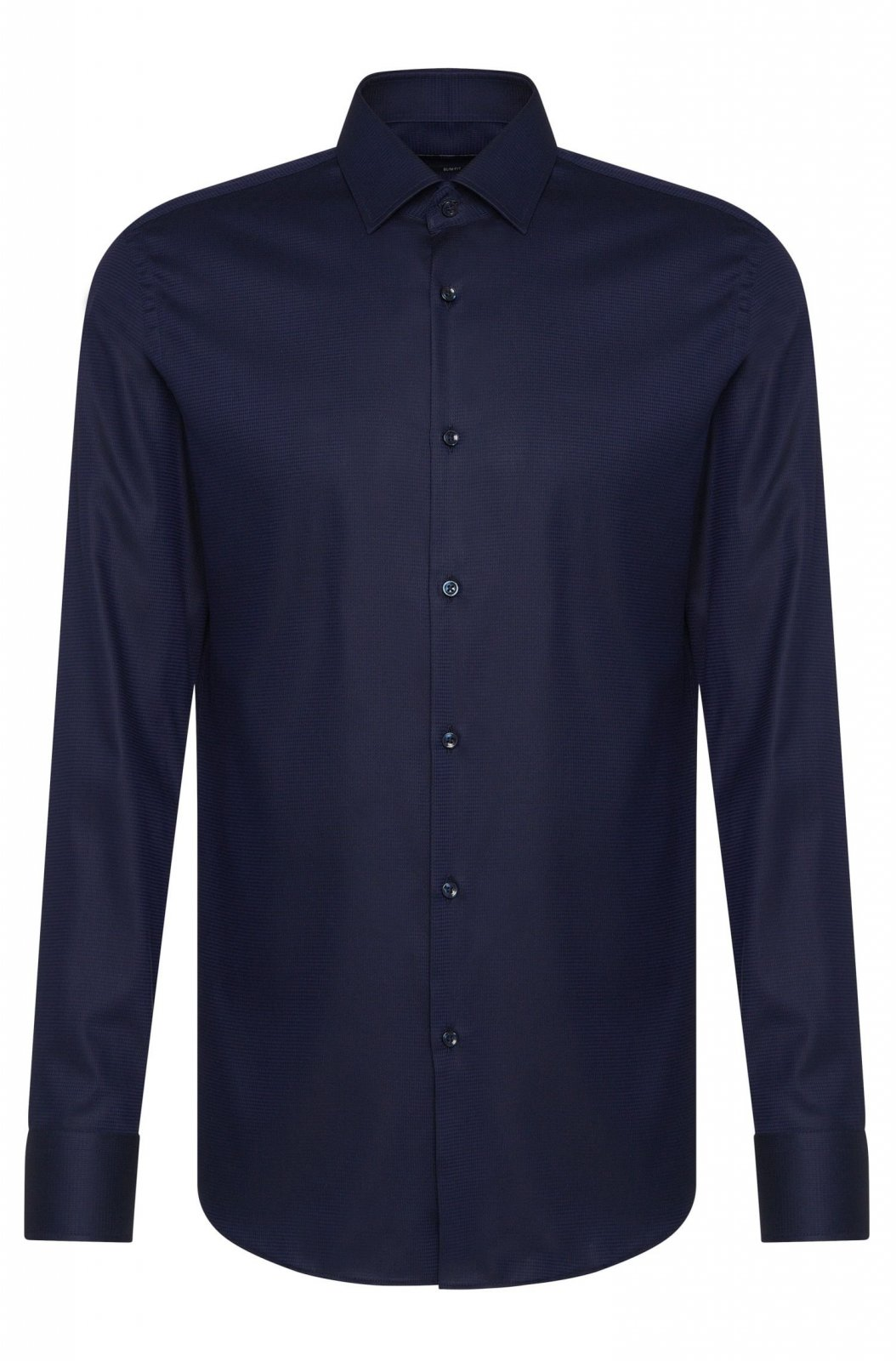 hugo boss chemise slim fit jenno bleu nuit 50322450 chemises pour homme. Black Bedroom Furniture Sets. Home Design Ideas