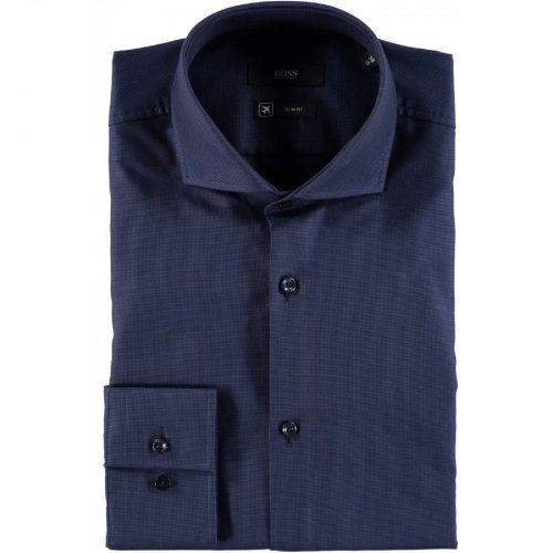 Chemise slim fit marine Jason