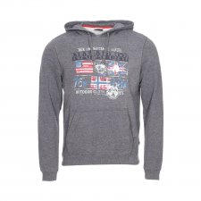Sweat à capuche Bray  gris anthracite chiné