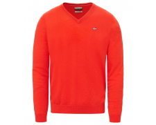 V-neck jumper Damavand orange