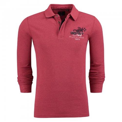 Polo manches longues NZA rouge