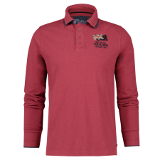 Polo rouge manches longues