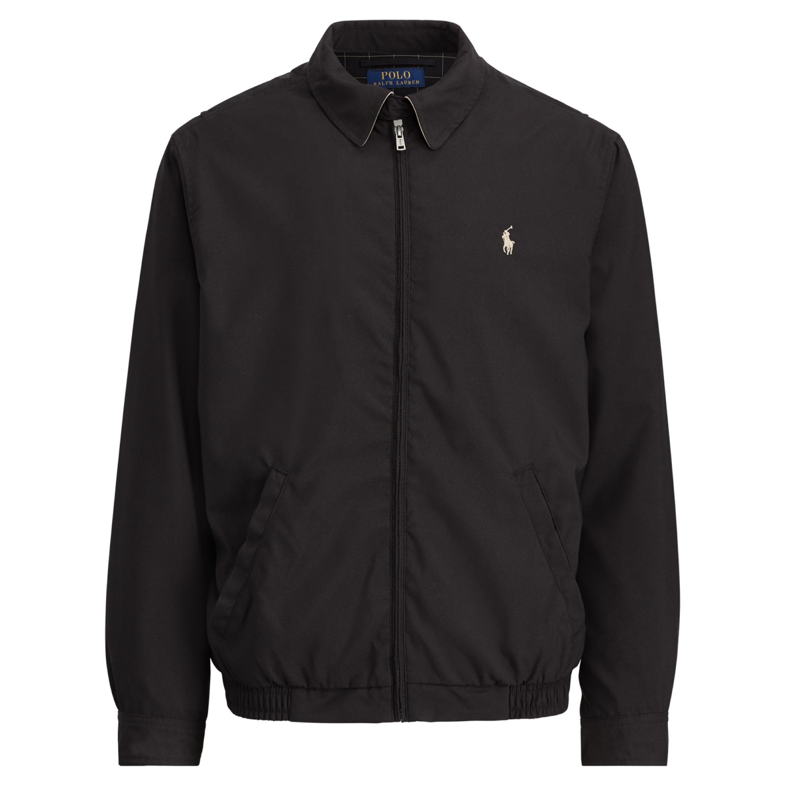 RALPH LAUREN Blouson noir logo marron - 710548506003 , Blouson pour ... 2a2df5671952