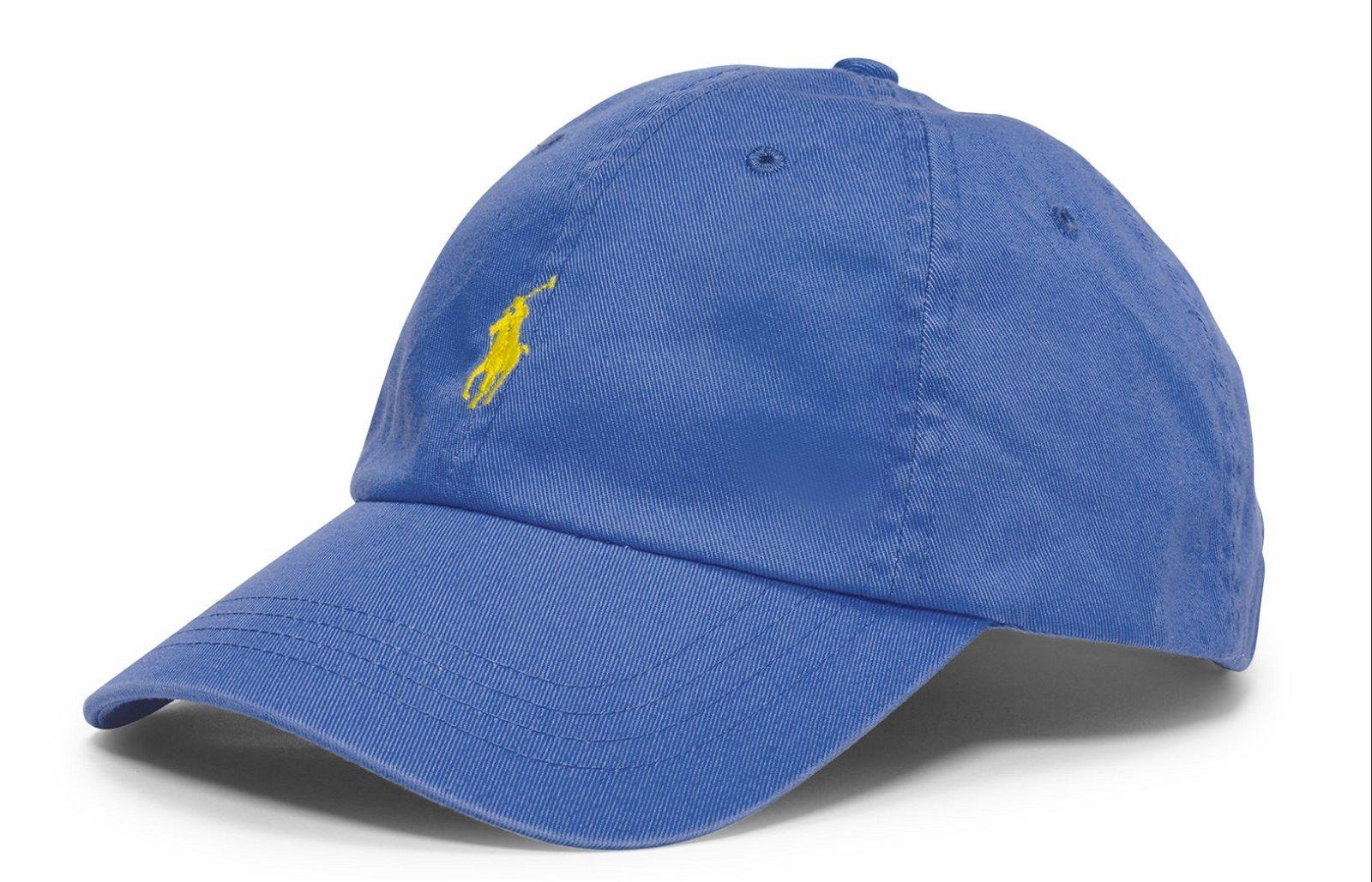 RALPH LAUREN Casquette bleu logo jaune - A81HT024CC447A4L43 ... c83ff3e1fe9
