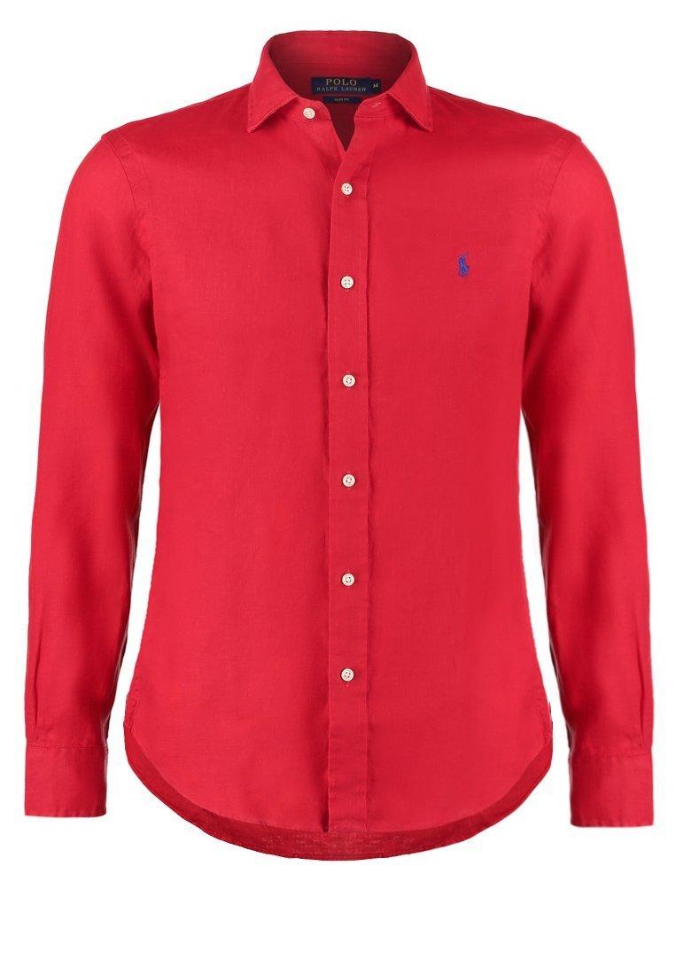 RALPH LAUREN Chemise lin rouge - A04WAA37L00P1A6412 , Chemises pour ... 649b88edab6f