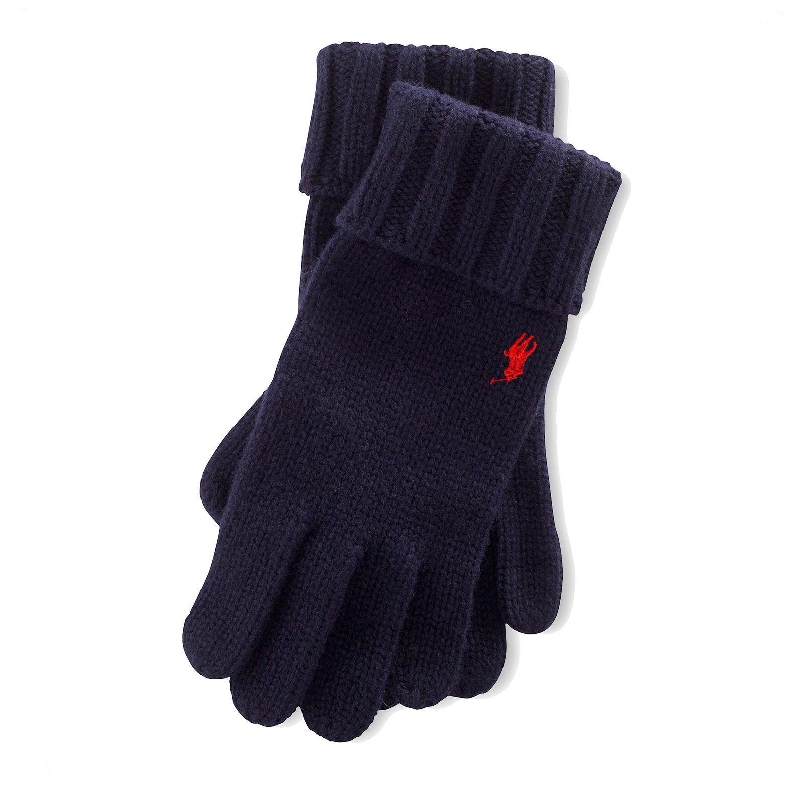 d8b78af5109 RALPH LAUREN gants en laine logo rouge - 710719818