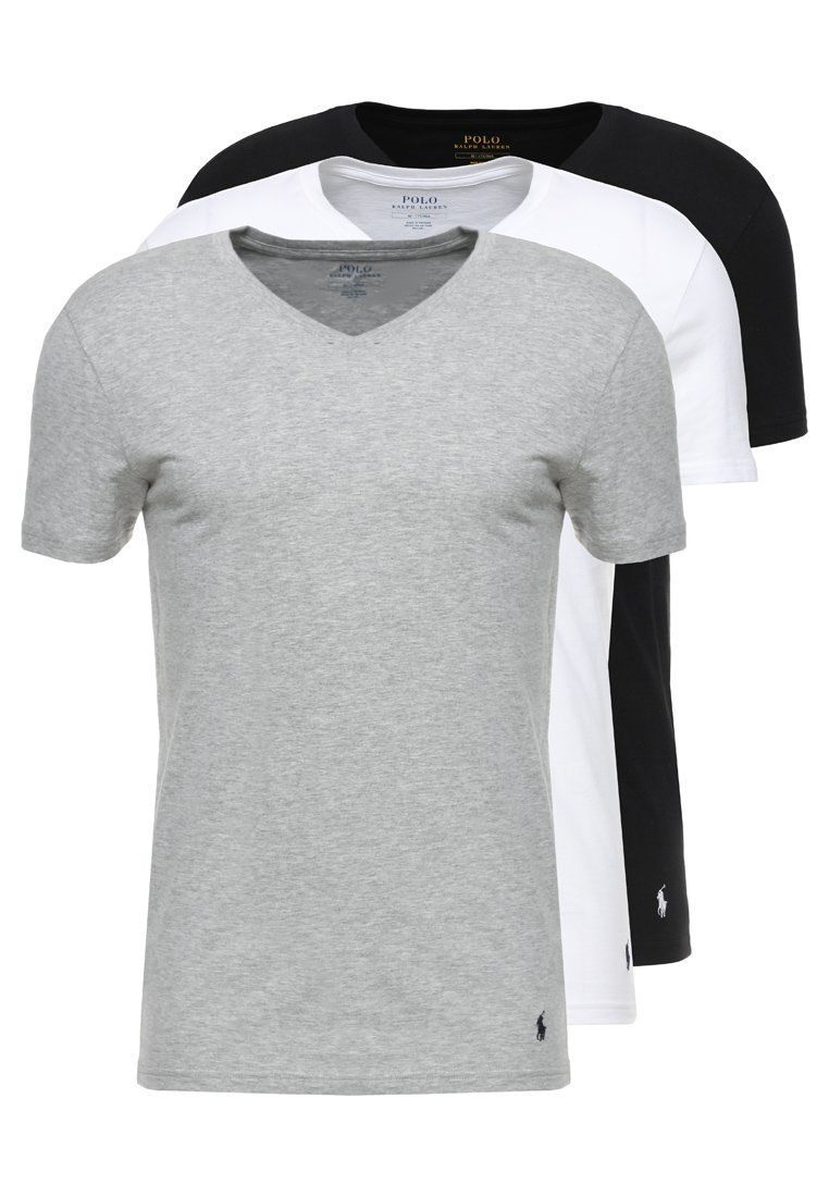 146991129d1f97 Lot de 3 tee shirt 3 couleurs. Pack de 3 T-shirt sous vêtement en col V  pour homme de la marque Ralph Lauren