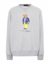 Sweat en molleton Polo Bear gris