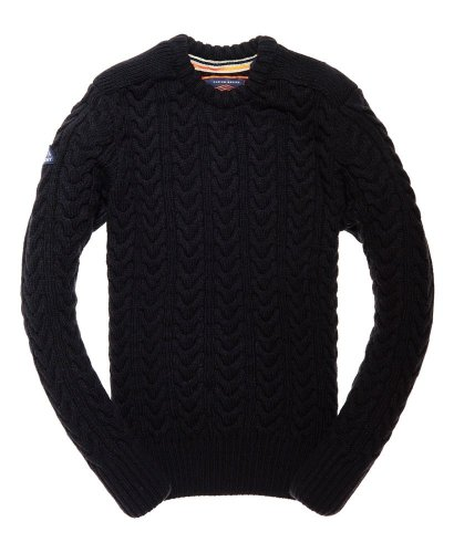Pull torsade col rond