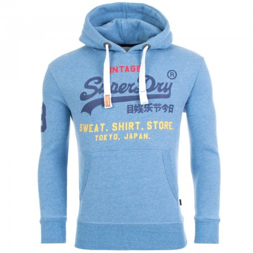 Sweat capuche bleu