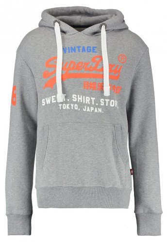 Sweat capuche gris logo