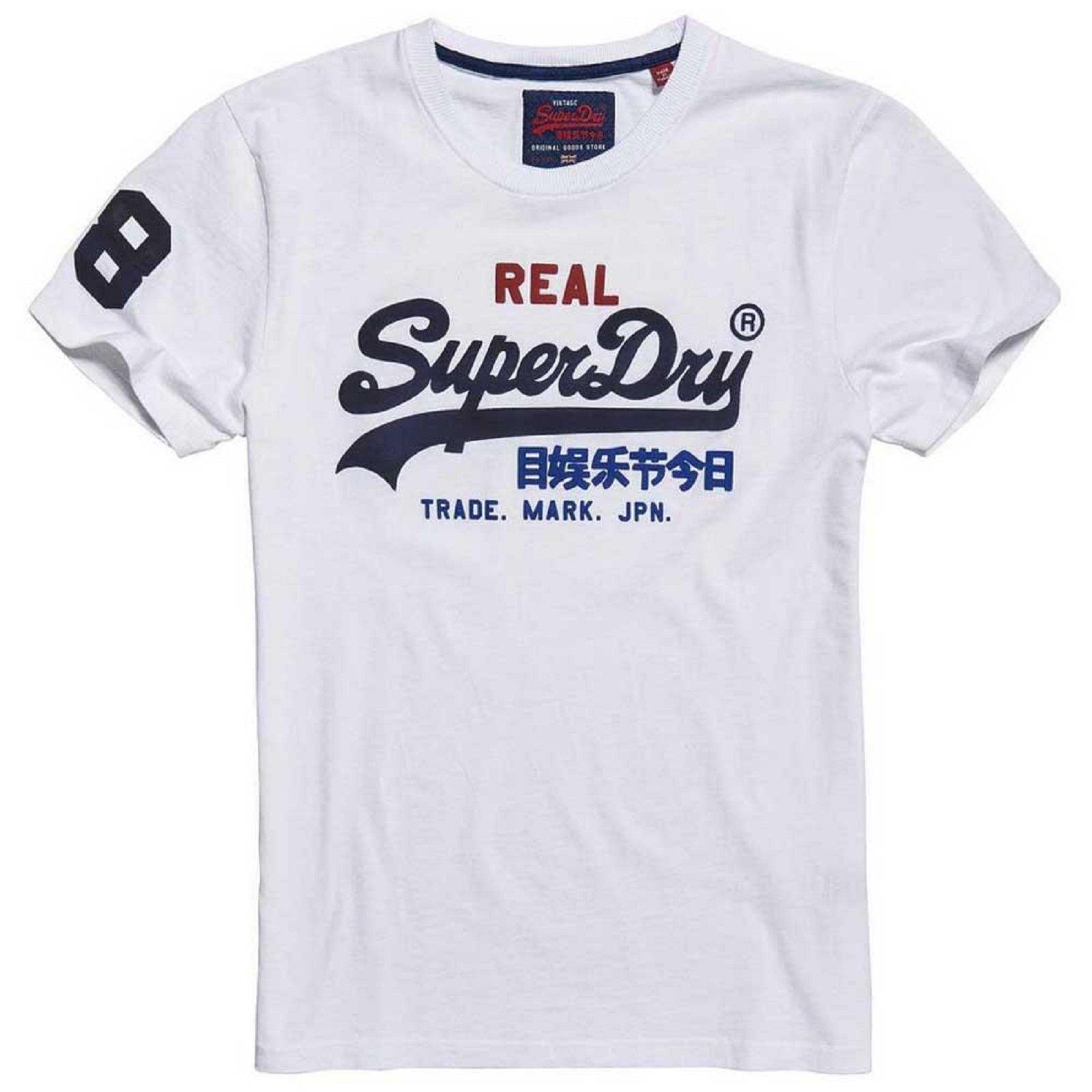 superdry tee shirt vintage blanc m10036ns t shirt pour. Black Bedroom Furniture Sets. Home Design Ideas