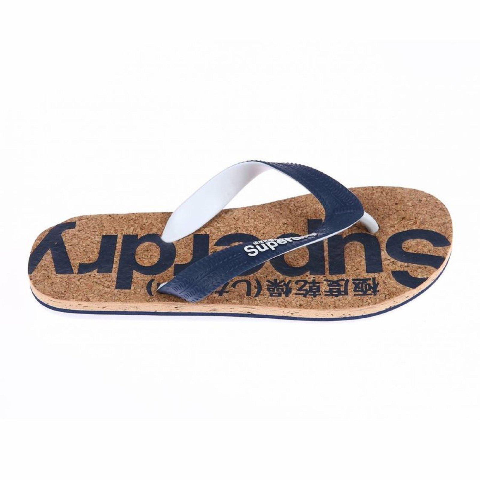Superdry Tongs en liège Flip Flop marine - MF30202 , Chaussures pour ... 63f5afe194e3