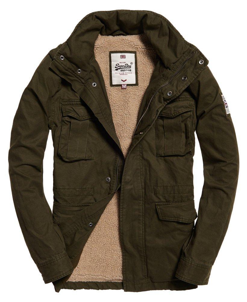 superdry veste style militaire paisse rookie m50015tp blouson pour homme. Black Bedroom Furniture Sets. Home Design Ideas