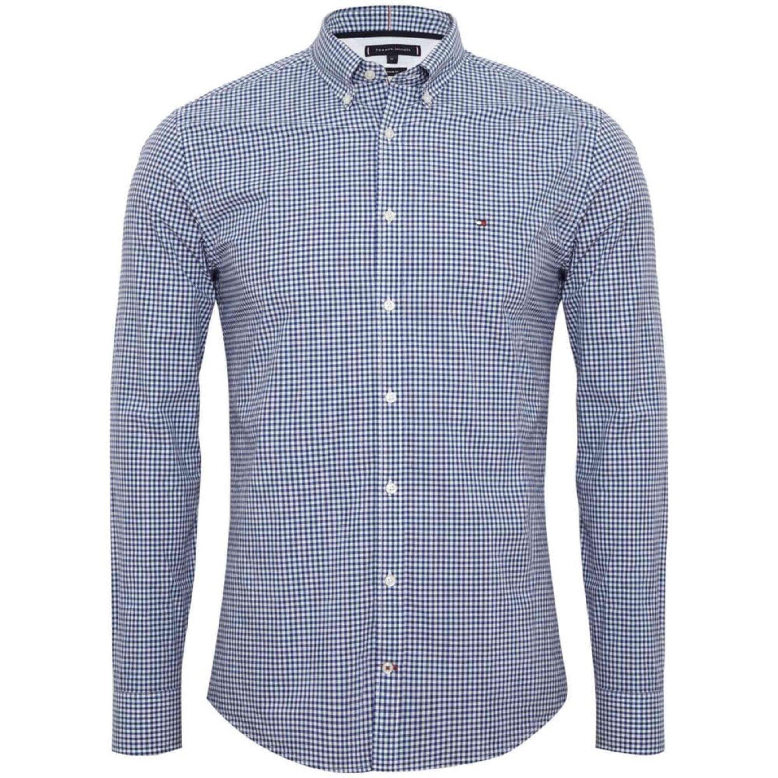 Chemise Tommy Hilfiger de couleur bleu à carreaux, taille M