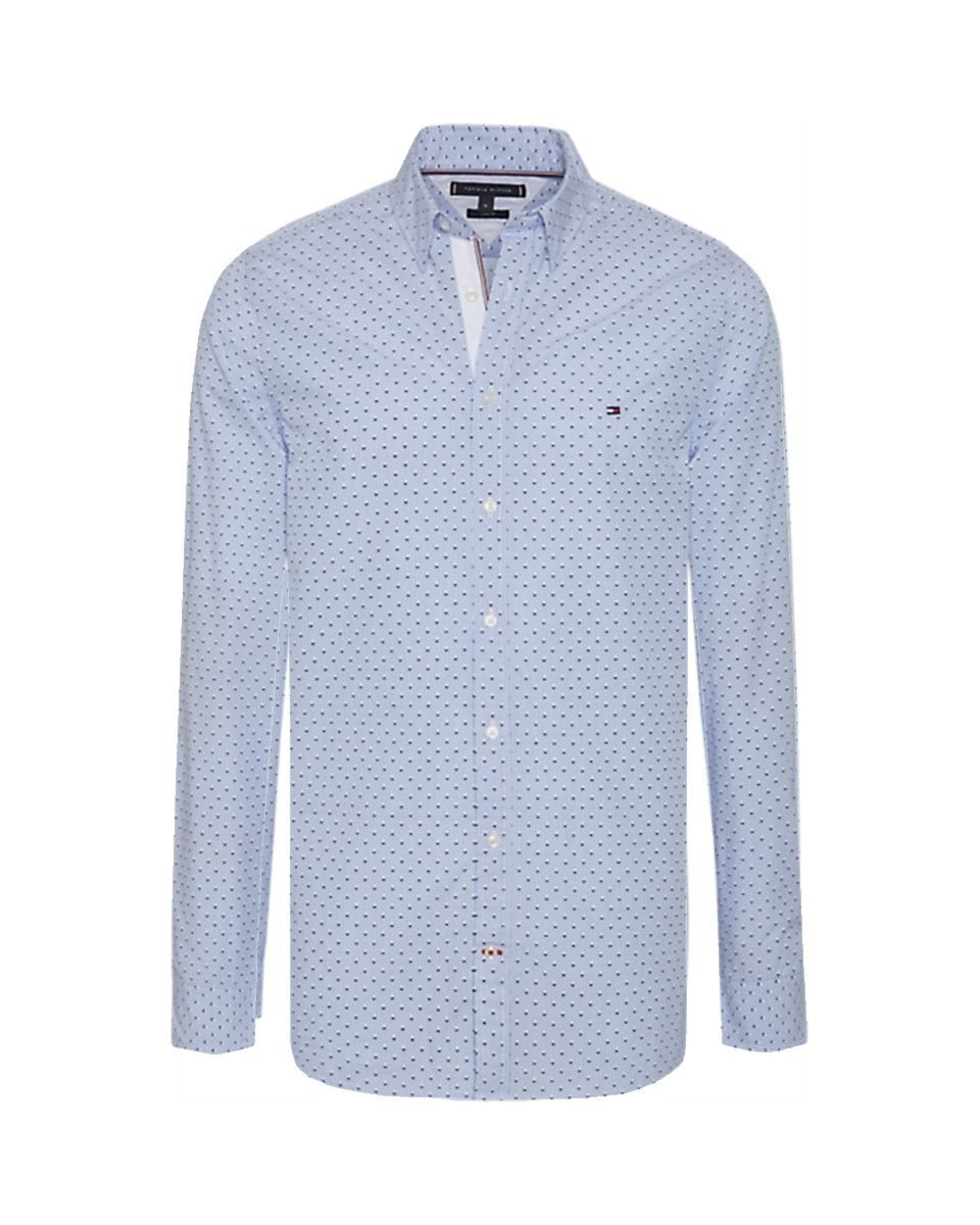 chemise blanc slim fit tommy hilfiger, tommy hilfiger polo