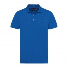 Polo bleu vif coupe Slim
