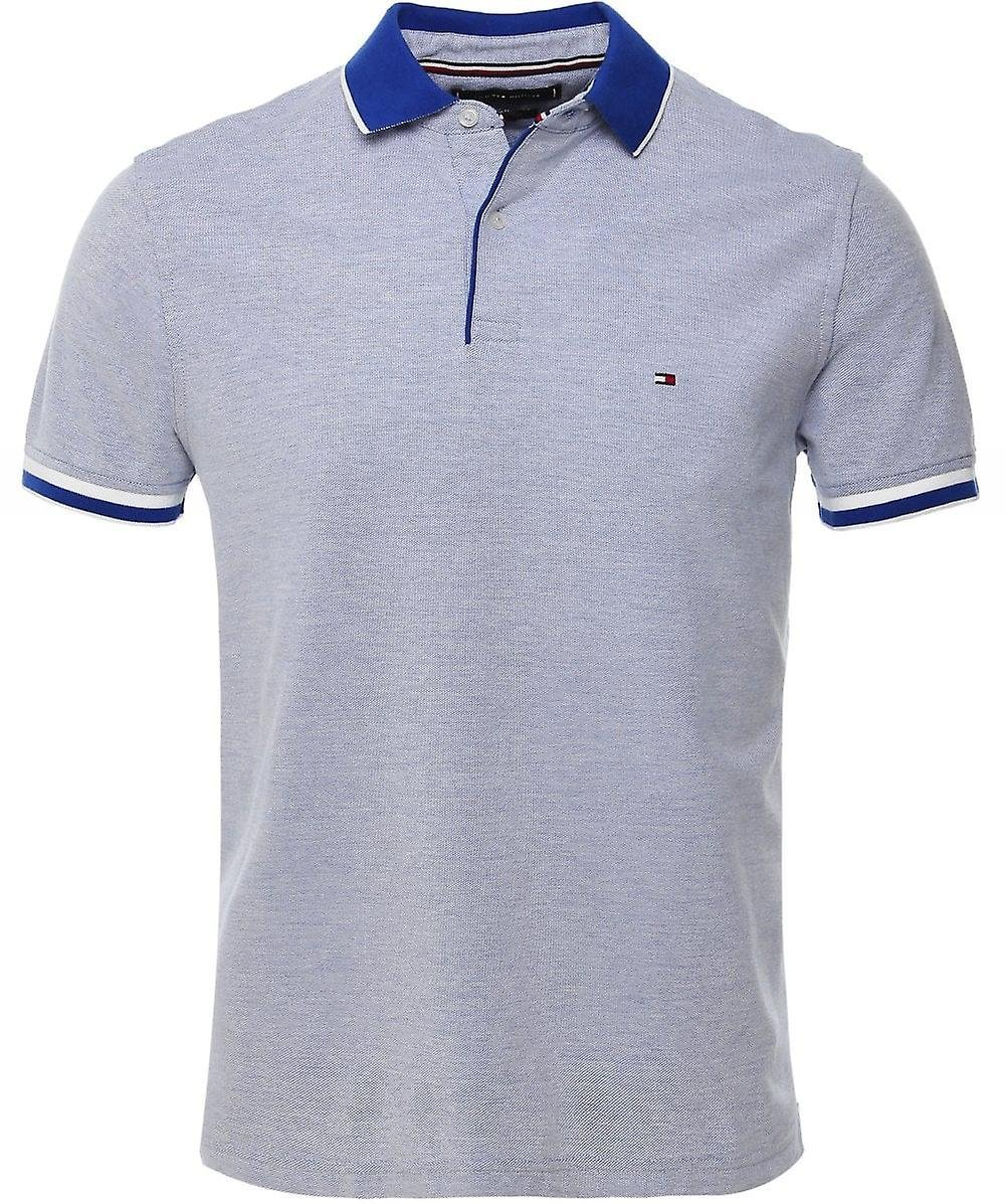 TOMMY HILFIGER Polo Oxford bleu