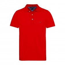 Polo rouge uni Slim fit