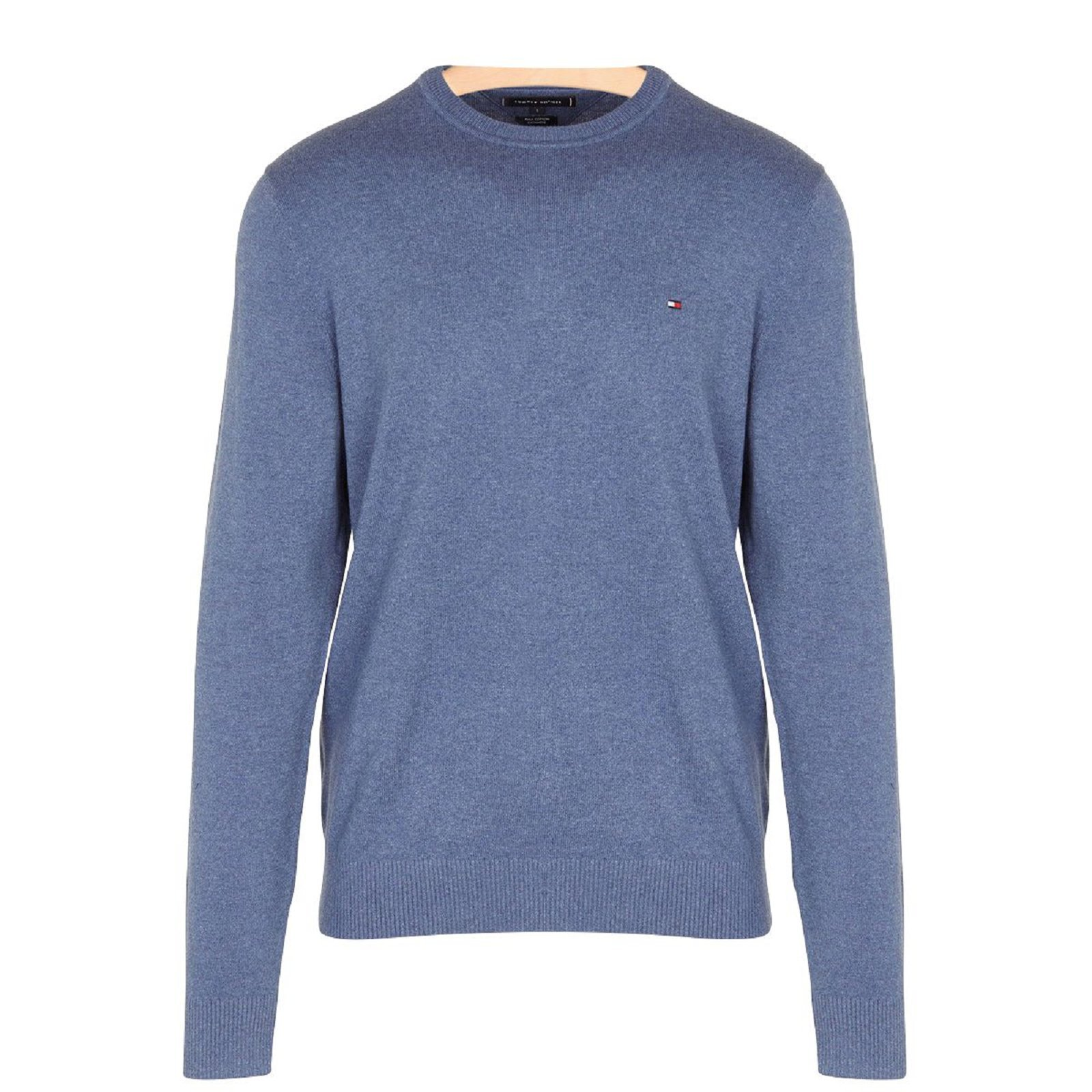 TOMMY HILFIGER Pull pima col rond - MWOMW07854 , Pull pour Homme aa8211ad3810
