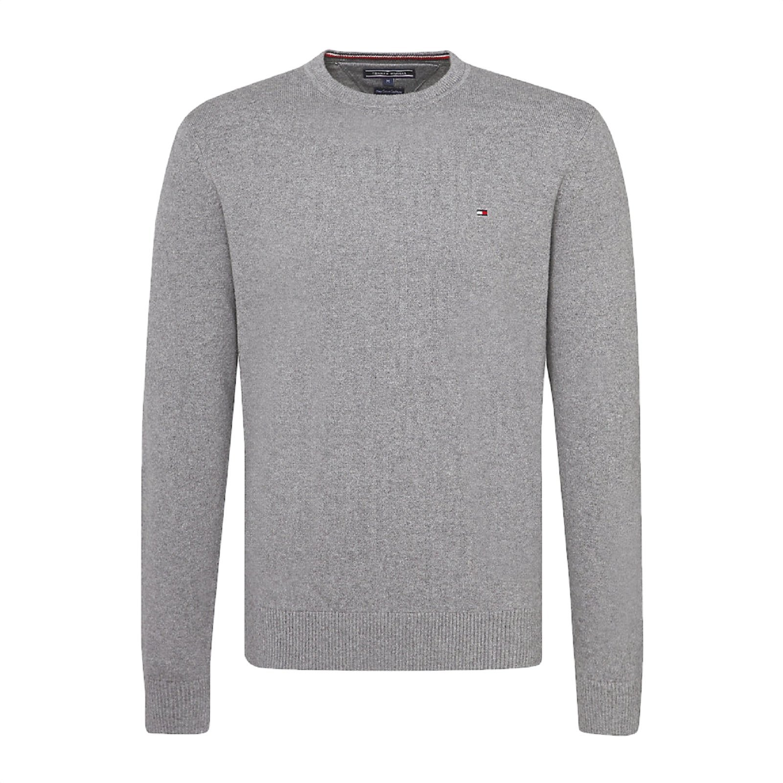TOMMY HILFIGER Pull pima col rond gris - MW0MW07854 , Pull pour Homme 70d52099081a